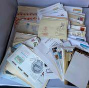 Belegeposten alle Welt, dabei auch Automatenmarken BRD, Schweiz, Einschreibebriefe, etc. Bitte besi