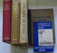 Lot alte Bücher, dabei Deutsches Land und Volk 1930, Platen Die neue Heilmethode 1911, Durch die w