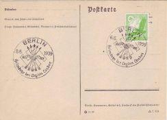 """Drittes Reich 1939, Mi. - Nr. 529 auf Postkarte mit Sonderstempel 6.6.1939 """"Heimkehr der Legion Co"""