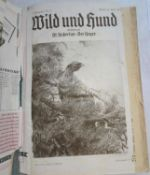 """Paul Parey """"Wild und Hund 1933"""", Nr. 17-34, gebunden. Mit Gebrauchsspuren.Paul Parey """"Wild und Hund"""