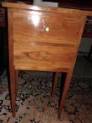 Biedermaier Schränkchen mit 2 Schubladen. Kirschholz. Recht guter Zustand. Maße: Höhe ca. 71 cm,