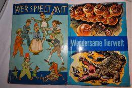 2 Sammelbilderalben, herausgegeben von den Köllnflockenwerke. Serie 13, 96 Bilder, Serie 19, 48 Bi