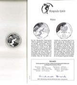 Olympische Spiele, Polen 10 Zloty, 925er Silber, Snowboard. Mit Zertifikat.Olympic Games, Poland 10