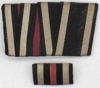 Ordensspange und Feldspange Eisernes Kreuz 2. Klasse und Frontkämpfer Abzeichen, 1. WK.Medal clasp