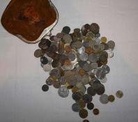 1 alter Gelbbeutel mit Umlaufmünzen, dabei auch etwas Kaiserreich, vielleicht kleine Fundgrube!1 o