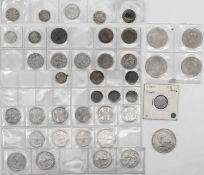 Lot Münzen Deutschland und DDR. Dabei auch einige Münzen Österreich und Schweiz. Insgesamt 39