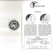 Olympische Spiele Dschibouti, 100 Dschibouti Francs, 925/1000 Silber. Marathonläufer. Mit Zertifik