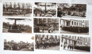 17 Postkarten Mai - Kundgebung 1933, SA Schultheiss. Brauerei Berlin, wohl Nachdrucke.17 postcards