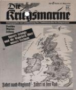 """Zeitschrift """"Die Kriegsmarine"""" 1940, gute Erhaltung.""""Die Kriegsmarine"""" magazine 1940, good conditio"""