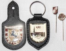 4 Teile Feuerwehr, 2 x Anstecknadel, 2 Anhänger Stuttgart - Ebermannstadt.4 parts fire brigade, 2