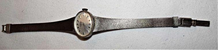 Damenarmbanduhr, Pallas Exquisit, 835er Silber, Länge ca. 17 cm. Gewicht ca. 27,7 gr.Ladies wrist