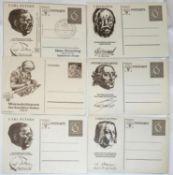 6 Ganzsachen - Postkarten WHW 1938 - 1940.6 postal stationery postcards WHW 1938 - 1940.