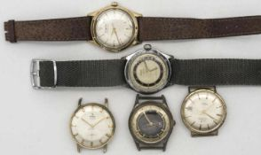 Lot Herren - Armbanduhren für Bastler.Lot of men's wristwatches for hobbyists.