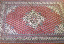 Teppich Täbris, Noppenzahl ca. 260.000 qm. Maße: 1,40x2,00 m.Tabriz carpet, number of nubs approx