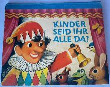 Kinderbuch : Kinder seid ihr alle da ? - Pop-up-Buch, Frick Verlag - Wien. Illustrationen V. Kubast