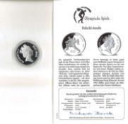 Olympische Spiele Fidschi-Inseln, 10 Dollar, 925/1000 Silber. Judo. Mit Zertifikat.Olympic Games Fi