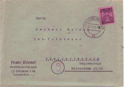 SBZ, Mi. - Nr. 1 als EF aus Schwerin nach Charlottenburg.SBZ, Mi. - No. 1 as single franking from S