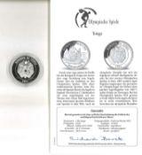 Olympische Spiele Tonga, 1 Pa´anga, 925/1000 Silber, Segelboot. Mit Zertifikat.Olympic Games Tonga