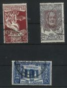 Italien 1922, Mi Nr 157-159, 50. Todestag von Guis Mazzini, gestempeltItaly 1922, Mi Nr 157-159, 50