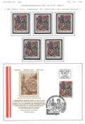 Österreich, Jahrgang 1981, Marken postfrisch, gestempelt und FDC, sowie Sonderdrucke.Austria, born