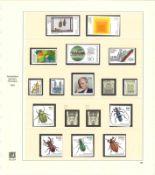 BRD, Sammlung von 1983-1994 im SAFE Falzlos-Vordruckalbum, postfrisch. Augenscheinlich komplett. Ho