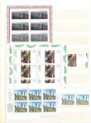 BRD, 30 Seiten Dublettenalbum mit postfrischen Ausgaben, meist Kleinbogen, diese teilweise getrennt