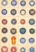 uraltes Schwaneberger Briefmarkenalbum, 1. Ausgabe. Leider nur sporadisch besetzt. Vielleicht trotz