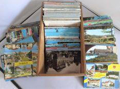 """Großes Lot Postkarten """"Pfalz"""" in Holzkarteikasten, meist 60-80er Jahre, viele schöne Ansichten au"""