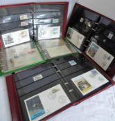 Lot von meist Bildpostkarten FDC, BRD sowie Gedenkblätter etc. in 6 Alben. Hoher Einstandspreis.Lo