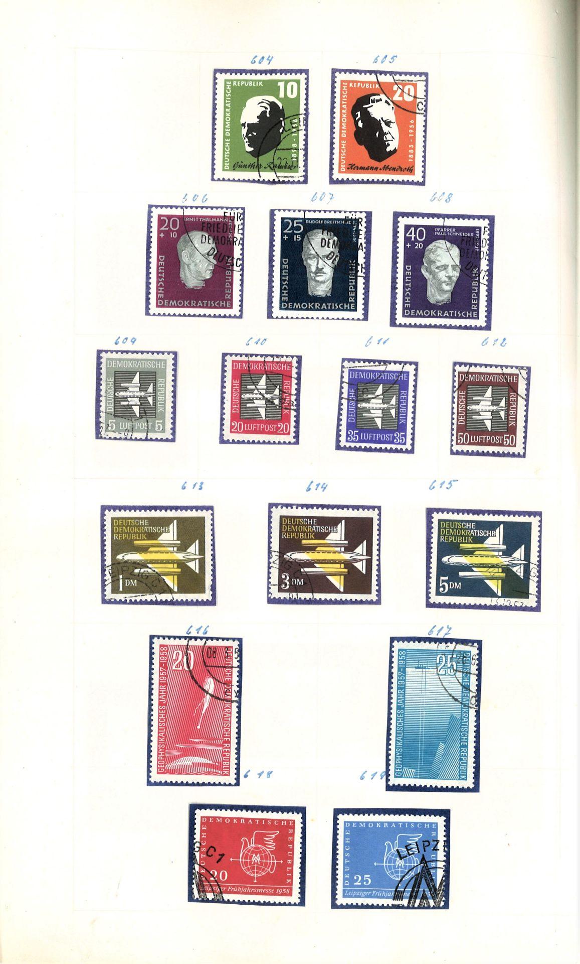 DDR Teilsammlung, gestempelt ab Anfänge bis 1969. - Image 7 of 8