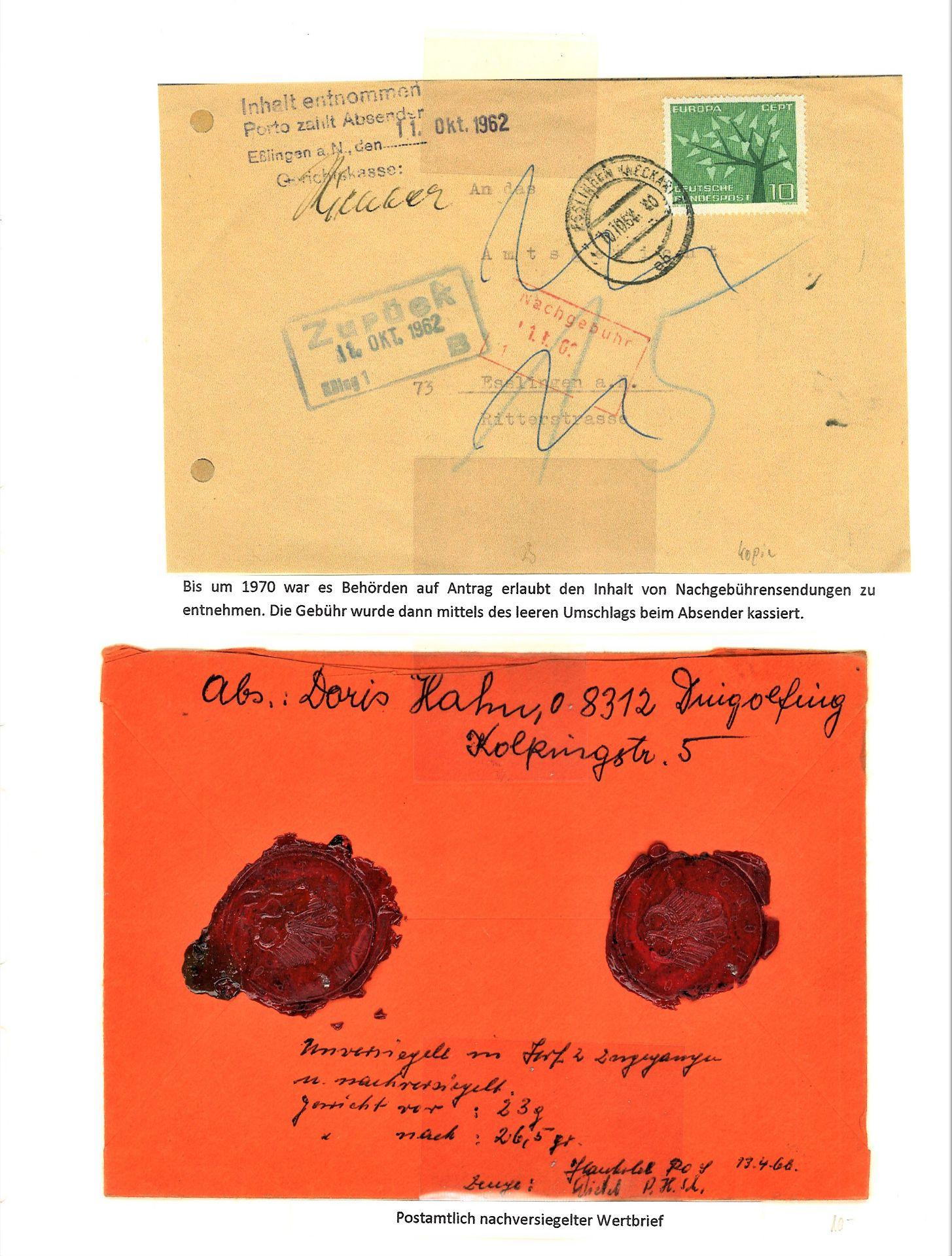 Blauer Leuchtturm Ringbinder mit 96 Blatt und 277 Belegen und 17 Verschlußmarken bzw. - Image 12 of 12