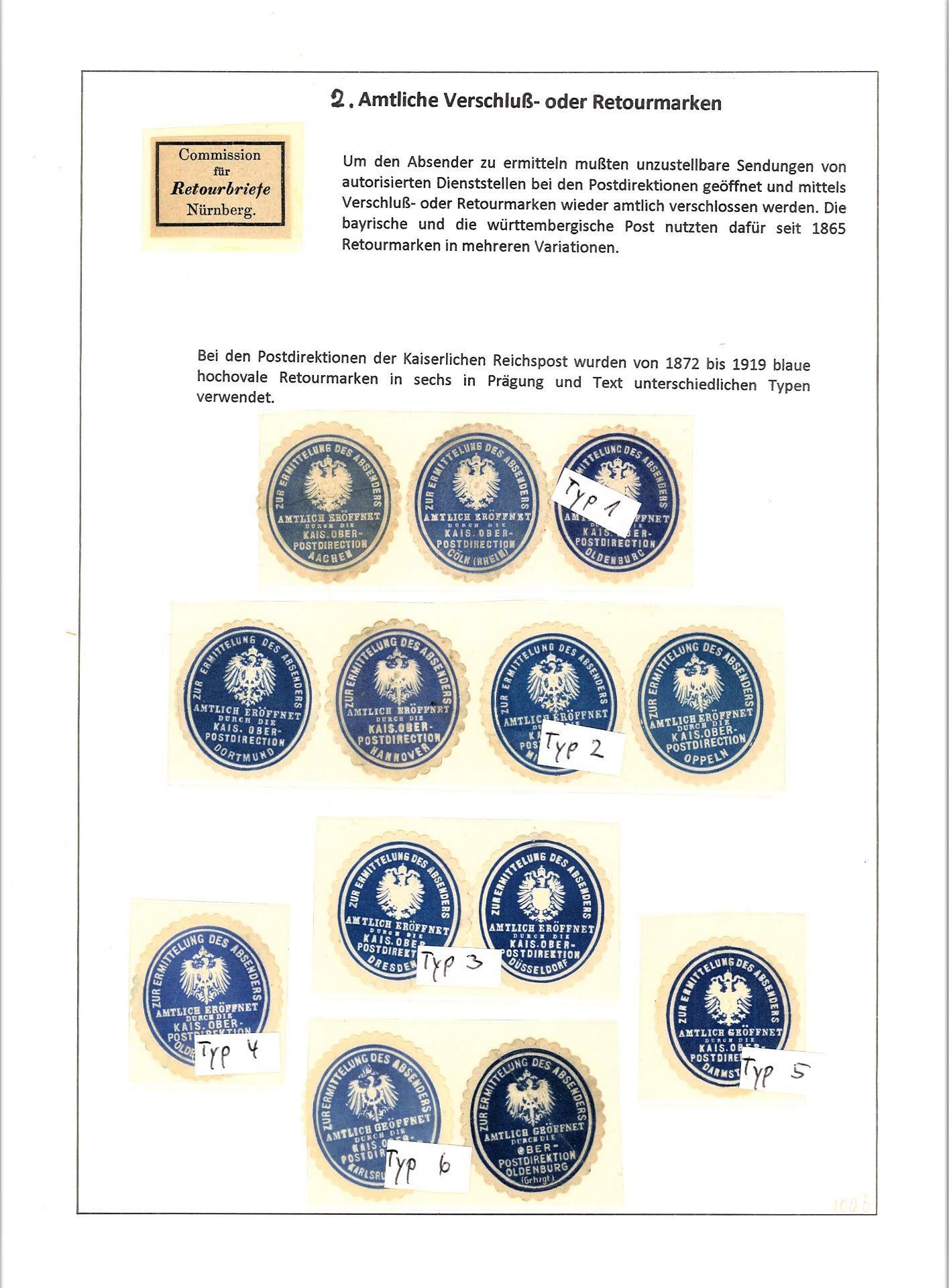 Blauer Leuchtturm Ringbinder mit 96 Blatt und 277 Belegen und 17 Verschlußmarken bzw. - Image 4 of 12