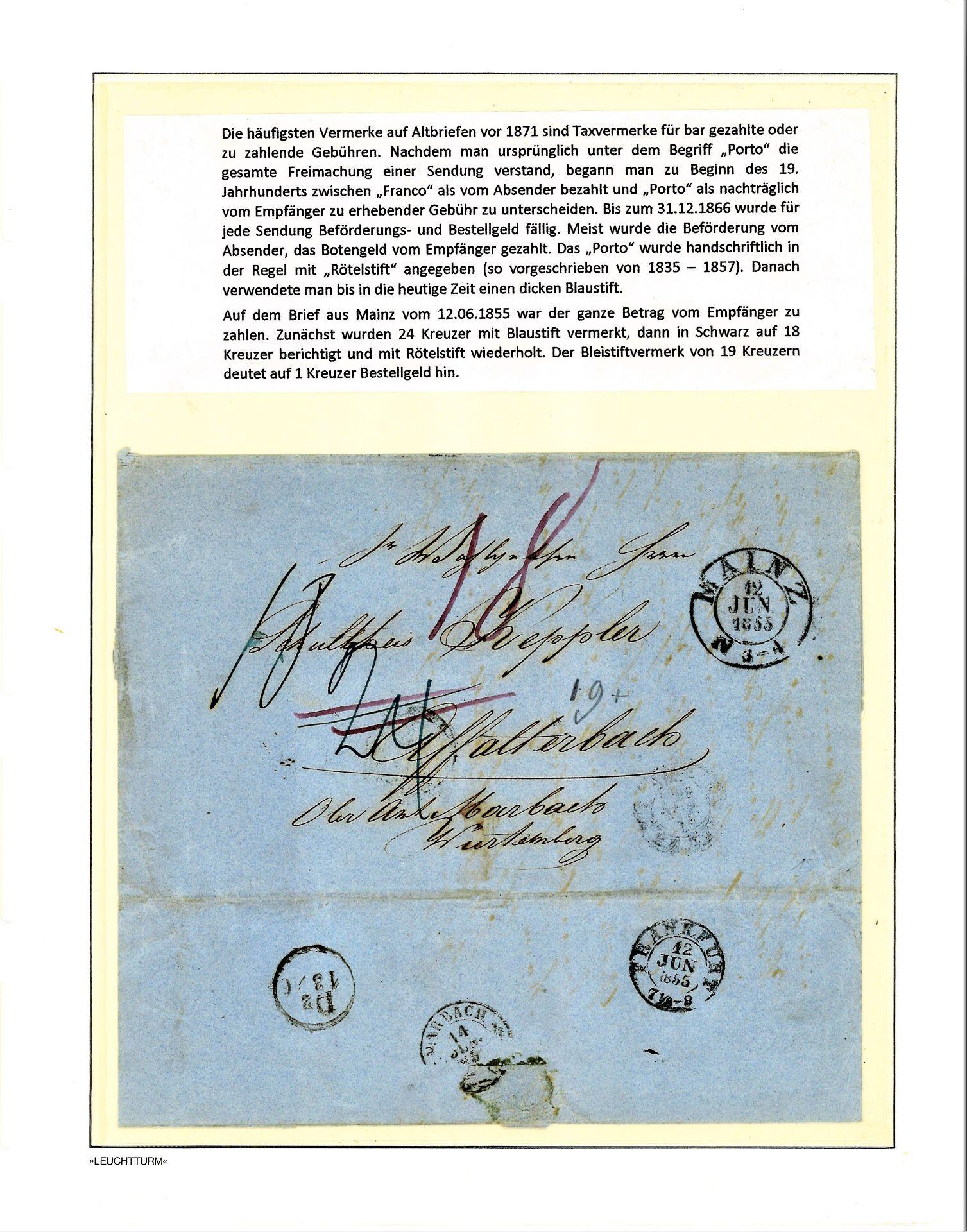 Blauer Leuchtturm Ringbinder mit 96 Blatt und 277 Belegen und 17 Verschlußmarken bzw. - Image 2 of 12