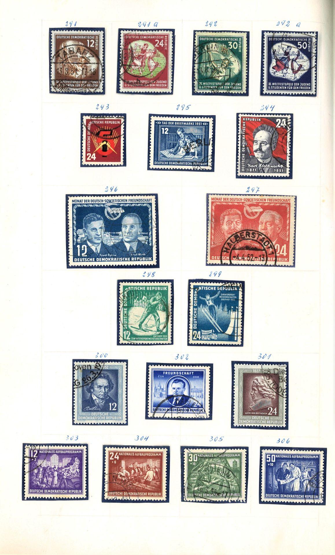 DDR Teilsammlung, gestempelt ab Anfänge bis 1969. - Image 6 of 8