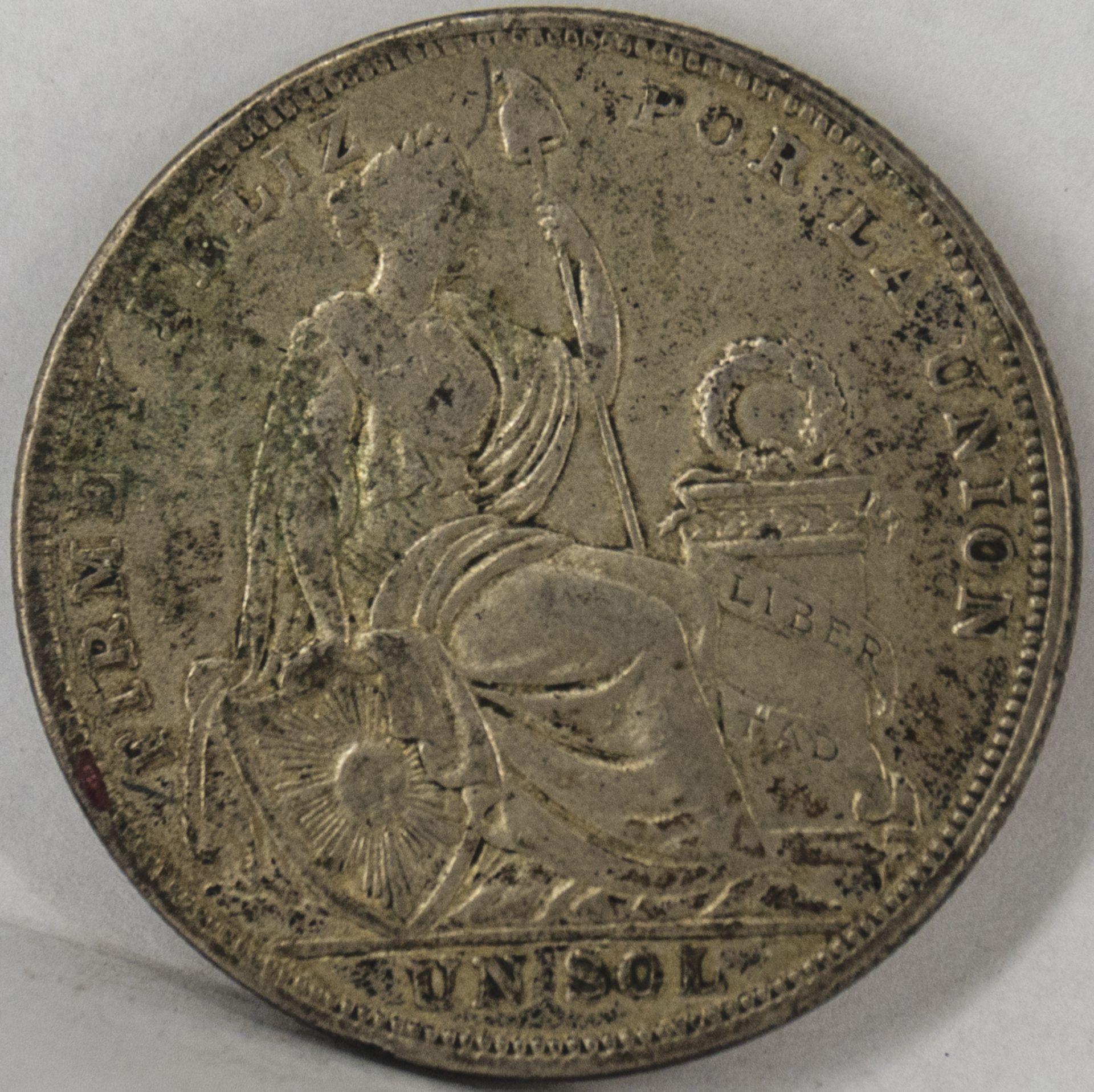 Peru 1924, 1 Sol - Silbermünze, Erhaltung: s.