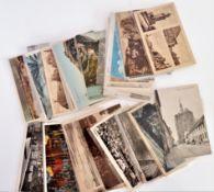 über 40, meist kleinformatige Postkarten Europa, dabei aber auch viel ehemaliges Ostdeutschland.