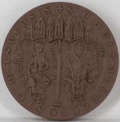 """Porzellan - Medaille """"Hochstift Meissen 968 - 1968"""", Meißen, Durchmesser: ca. 65 mm. Erhaltung: VZ."""