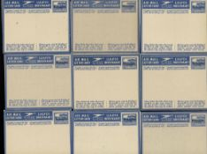 1949/55 ,15 Flugbriefen / Aerogrammen von Südafrika optd. Betschuanaland, meist ungebraucht mit