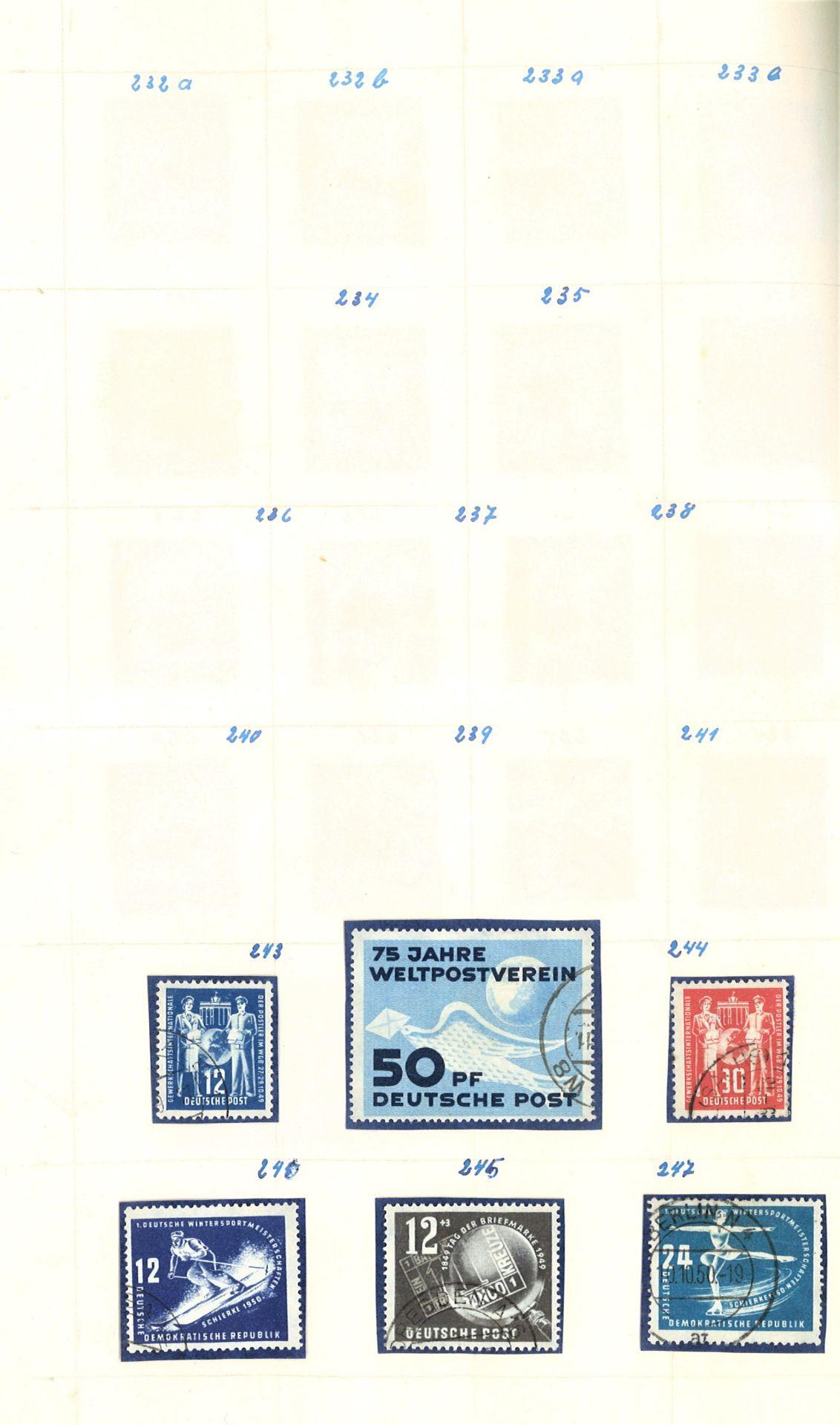 DDR Teilsammlung, gestempelt ab Anfänge bis 1969. - Image 5 of 8