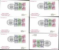 Berlin, Zusammendrucke W 75/76, 44mal auf Schmuck FDC 2.11.80, Michel Wert 1677 Euro