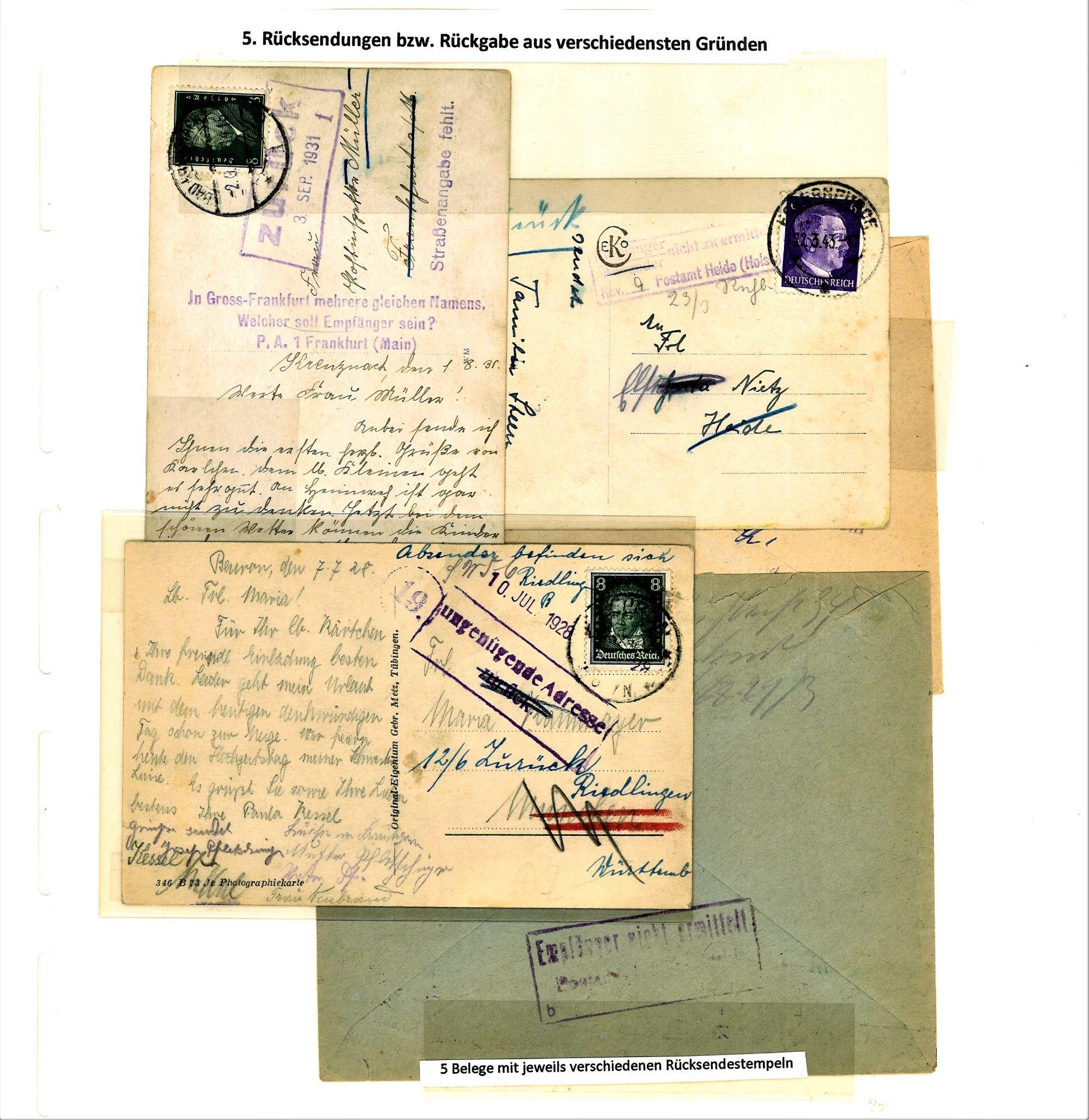 Blauer Leuchtturm Ringbinder mit 96 Blatt und 277 Belegen und 17 Verschlußmarken bzw. - Image 8 of 12