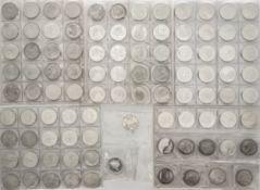 Sammlung 10.- - DM - Silbermünzen. Insgesamt 96 Stück.