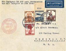 Brief 1. Nordamerika - Fahrt 1936 mit guter Frankatur. Sieger 406 C.