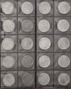 BRD, Sammlung aus 130 Stück 5.- DM - Münzen. Im Sammelalbum.