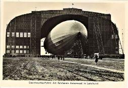 Zeppelin Südamerikafahrt: Am fahrbaren Ankermast in Lakehurst.
