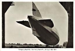 Groß - Aufnahme, Kriegsluftschiffe: Marine - Luftschiff L 53 (LZ 199) 1917.