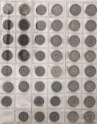 Deutschland, Sammlung 5 Pfennig - 50 Pfennig - Münzen vom Kaiserreich bis BRD. Dabei auch 1.- DM und