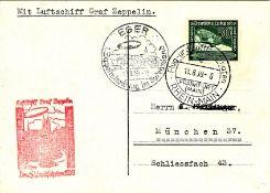 Postkarte Egerfahrt mit Luftschiff LR 130. Mi. - Nr. 670 als EF. Sieger 462.