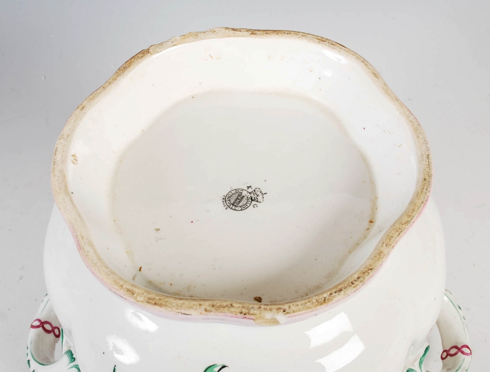 A Luneville pottery twin handled jardiniere, 21cm high x 22cm diameter. - Image 4 of 8