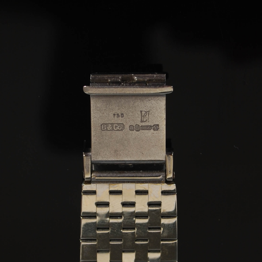 An 18ct gold and diamond set Longines ladies wristwatch, import hallmarks for London, 1968, B&Co., - Image 4 of 8
